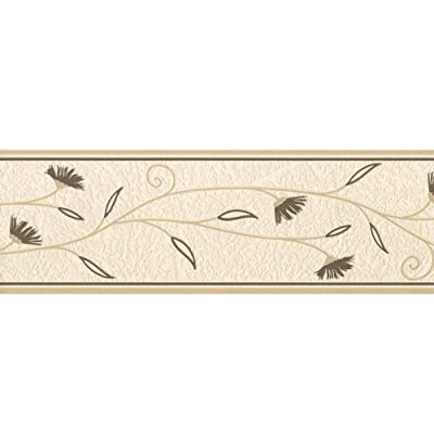 Fine Decor Petula Wallpaper Border Cream / Brown / Beige by Fine Decor