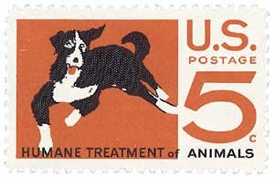 #1307 - 1966 5c Humane Treatment of Animals Postage Stamp Numbered Plate Block (4)