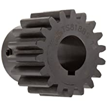 Martin Spur Gear, 20 Pressure Angle, High Carbon Steel, Inch, 20 Pitch