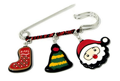Clip Christmas gifts Brooch for backpacks, clothing, girls, pack, jeans, set, kids, men, boy (Kirby Lapel compare prices)