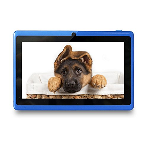 Yuntab Ultrathin 7 inch Quad Core Android Tablet PC,Google Android 4.4 OS, Allwinner A33 Multi-touch Screen, Dual Camera, Wifi ,3D Games supported Blue