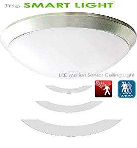 240v LED Ceiling Light with built-in motion sensor - Daylight White by LED Logic