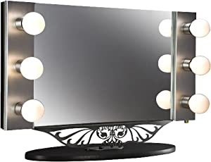 Starlet Lighted Vanity Mirror Reviews : Amazon.com: Starlet Table Top Lighted Vanity Mirror 34