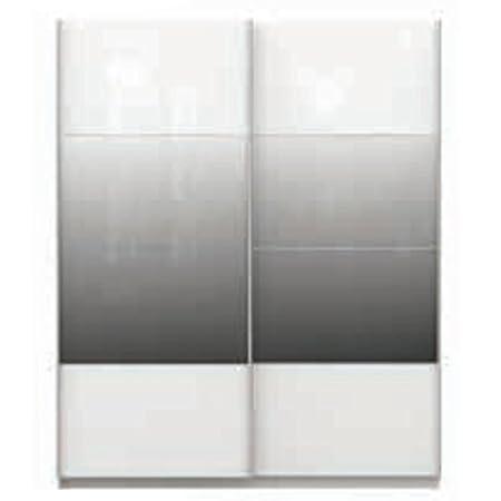 Canterbury - 2 puertas deslizantes para armario, con espejo parcial, color blanco