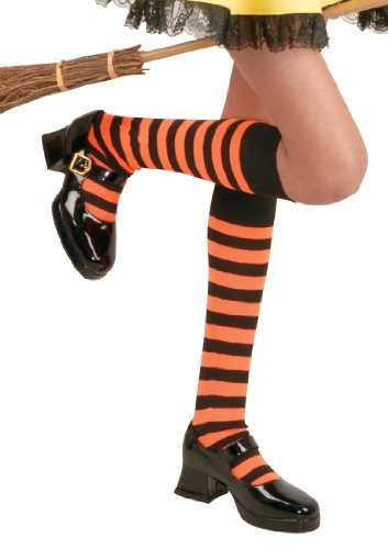 Girls Knee High Stockings with Stripes (Color Choices)