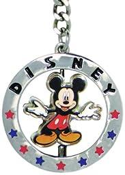 Disney Mickey Full Figural Spinner Keyring (Star Design)