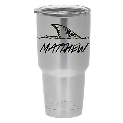 Personalized yeti or other mug fishing vinyl for Fishing yeti decal