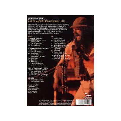Jethro Tull Live At Madison Square Garden 1978 Dvd Cd 10 20 09 Dvd Talk Forum