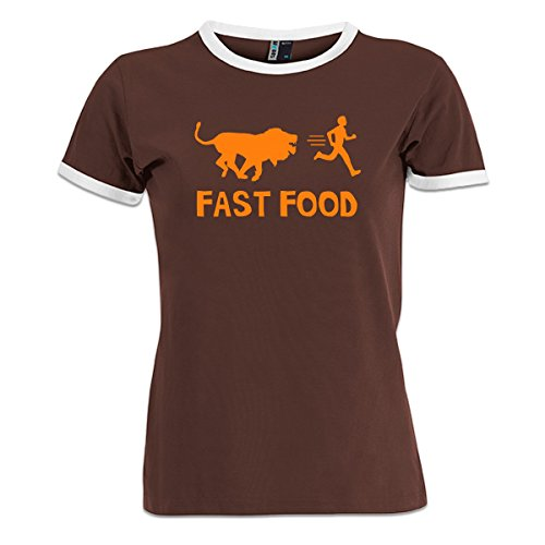 camiseta-contraste-de-mujer-fast-food-lion-human-by-shirtcity