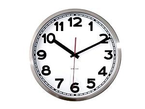 Present Time Karlsson Wall clock numbers steel polished 29cm diameter