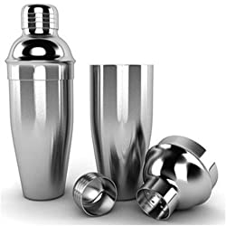 King Traders - Stainless Steel Cocktail Shaker/ Mocktail Shaker/Drink Mixer/Cocktail Mixer Pair 500 ml & 750 ml