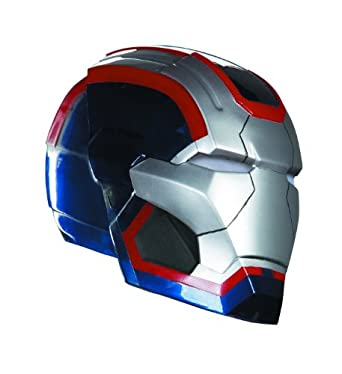 Disguise Marvel Marve Iron Man 3 Iron Patriot Adult Helmet Costume Accessory, Blue/Red/Silver, One Size Adult