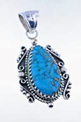 Les Baker Pendant with Cananea Turquoise