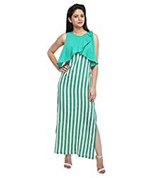 Tryfa Women's Dress (TFDRMX000071-XL_Green_X-Large)