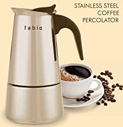 FABIO 4 cups 304 Grade Stainless Steel Coffee Percolator