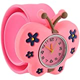 {Factory Direct Sale} Bendable Cartoon Gel Unisex Children Quartz Sports Watch - Butterfly