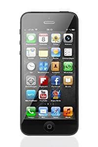 Apple iPhone 5 Smartphone 16GB (10,2 cm (4 Zoll) IPS Retina-Touchscreen, 8 Megapixel Kamera, iOS 6) schwarz