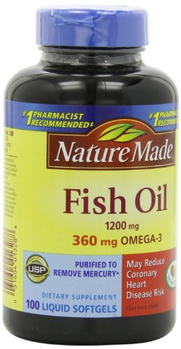 Nature Made Omega-3 Fish Oil (2 Pack Of 100 Softgels Each)