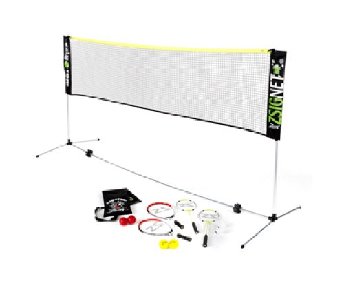 ZSIG Zsignet 20ft Variable Height Badminton Set with 4 Rackets and Shuttlecocks