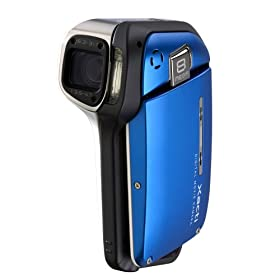 Sanyo Xacti VPC-E2 Digital Camcorder and 8 MP Digital Camera (Blue)