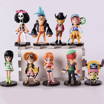 9pcslot-6-9cm-Anime-One-Piece-Mini-Action-Figures-the-Straw-Hats-Luffyroronoazorosanjichopper-Figure-Toys
