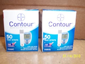 Bayer's 100 Count CONTOUR Blood Glucose Test Strips