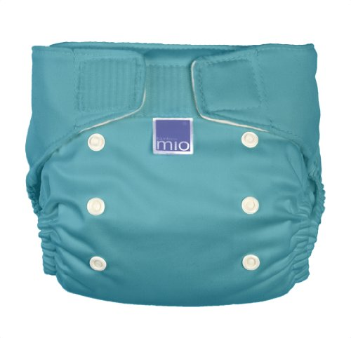 Bambino Mio Miosolo All-In-One Cloth Diaper, Pacific Teal front-626589