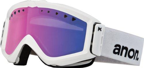 Anon Figment Painted Men's Goggle - White/Blue Solex Lens