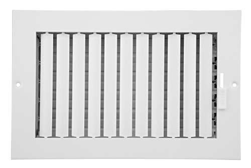 Accord ABSWWHA106 Sidewall/Ceiling Register with 1-Way Adjustable Design, 10-Inch x 6-Inch(Duct Opening Measurements), White (Ceiling Register 10x10 compare prices)