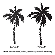Vinyl Wall Art Decal Sticker Florida Palm Tree Duo 6 Ft Tall #181A