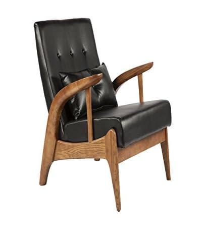 Control Brand The Mid Century Randers Arm Chair, Black