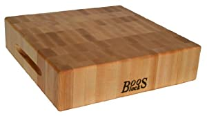 John Boos 18 by 18 by 3-Inch End Grain Maple Chopping Block