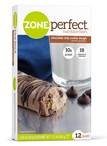 ZonePerfect Nutrition Bars, Chocolate Chip Cookie Dough, 1.58 oz, 12 Count (Protein Cookie Dough compare prices)