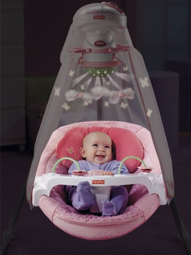 Fisher-Price Papasan Cradle Swing, Butterfly Garden