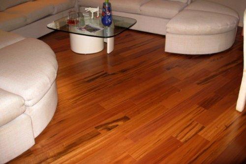 Tigerwood Brazilian Koa Plank Solid Prefinished Hardwood Wood Floor