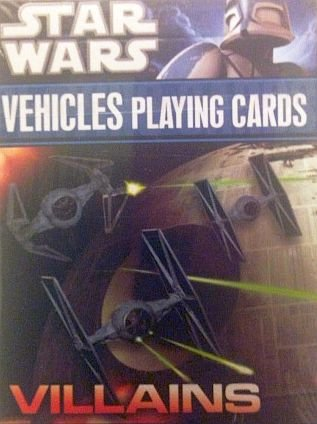 Star Wars Villains Vehicles Playing Cards