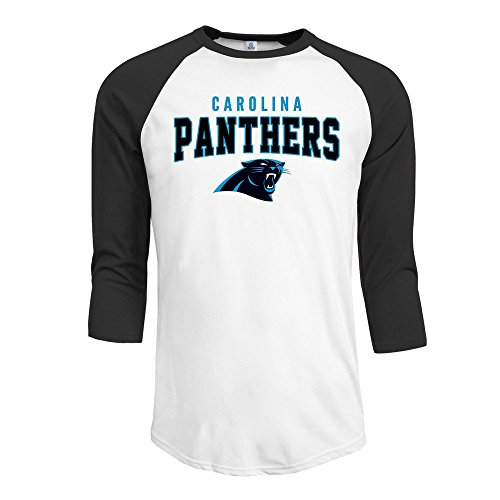 Carolina Panthers Charcoal Red Zone 3/4 Sleeve Raglan T-Shirt