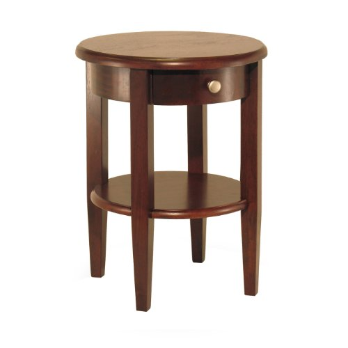 Image of Concord Round End Table With Drawer And Shelf By Winsome Wood (B004B3JB1G)