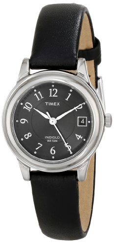 Timex Women'S T29291 Elevated Classics Dress Black Leather Strap Watch front-490044