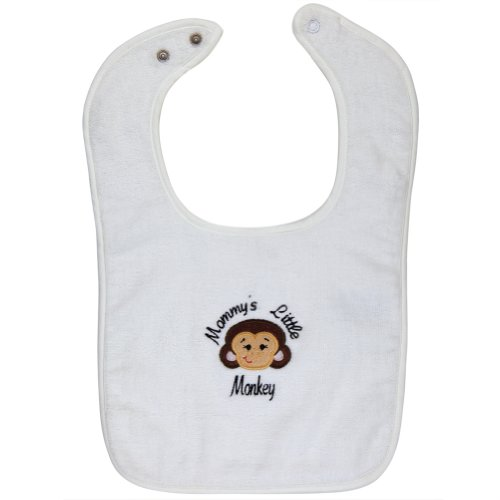 Mommy'S Little Monkey Bib White front-15615