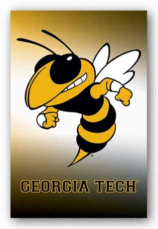 Georgia Tech Logo NCAA Sports Poster Print