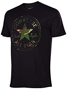 Converse Men's Chuck Taylor All Star Camo Patch T-Shirt-Black-Large