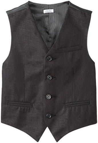 Calvin Klein Big Boys' Tick Vest, Black, Small