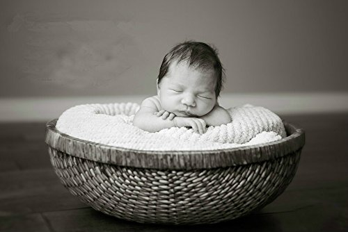 Newborn Baby Infant Photography Prop Handmade Woven Basket D-49