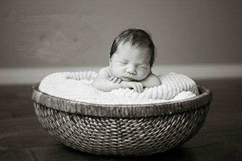 Newborn Baby Infant Photography Prop Handmade Woven Basket D-49