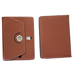 BRAIN FREEZER 7INCH ROTATING FLIP FLAP CASE COVER POUCH CARRY FOR HCL ME X1 TABLET BROWN