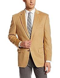 Palm Beach Men\'s Cotter Sport Coat, Camel Camel Hair, 48 Regular