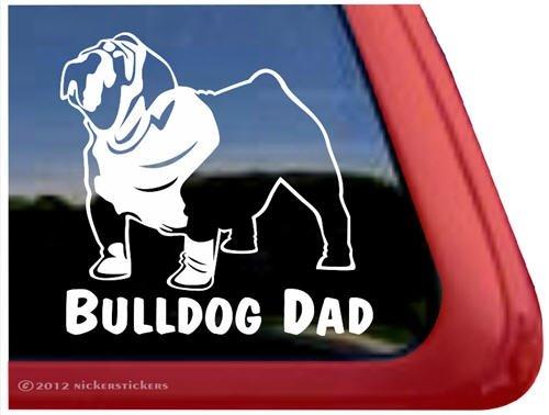 Bulldog Dad ~ Dog Vinyl Window Auto Decal Sticker front-85588