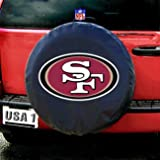 San Francisco 49ers NFL Spare Tire Cover (Black)