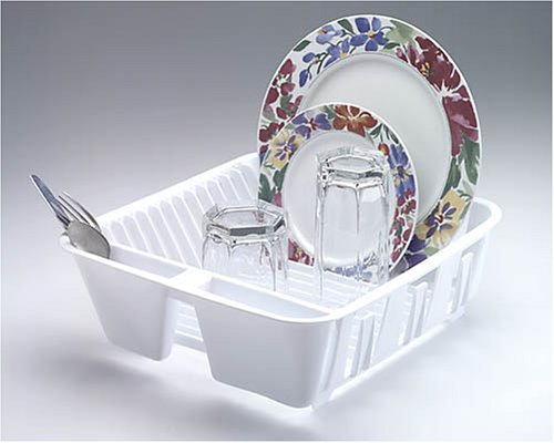 Rubbermaid Twin Sink Dish Drainer 12-1/2 14X 4-1/2 White
